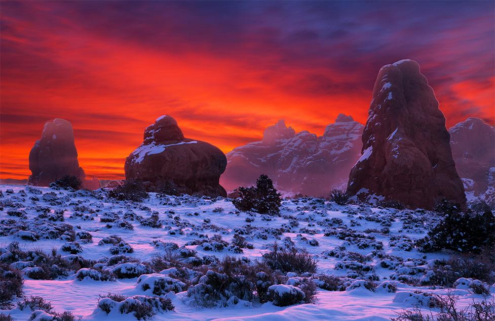 Sunrise in Red