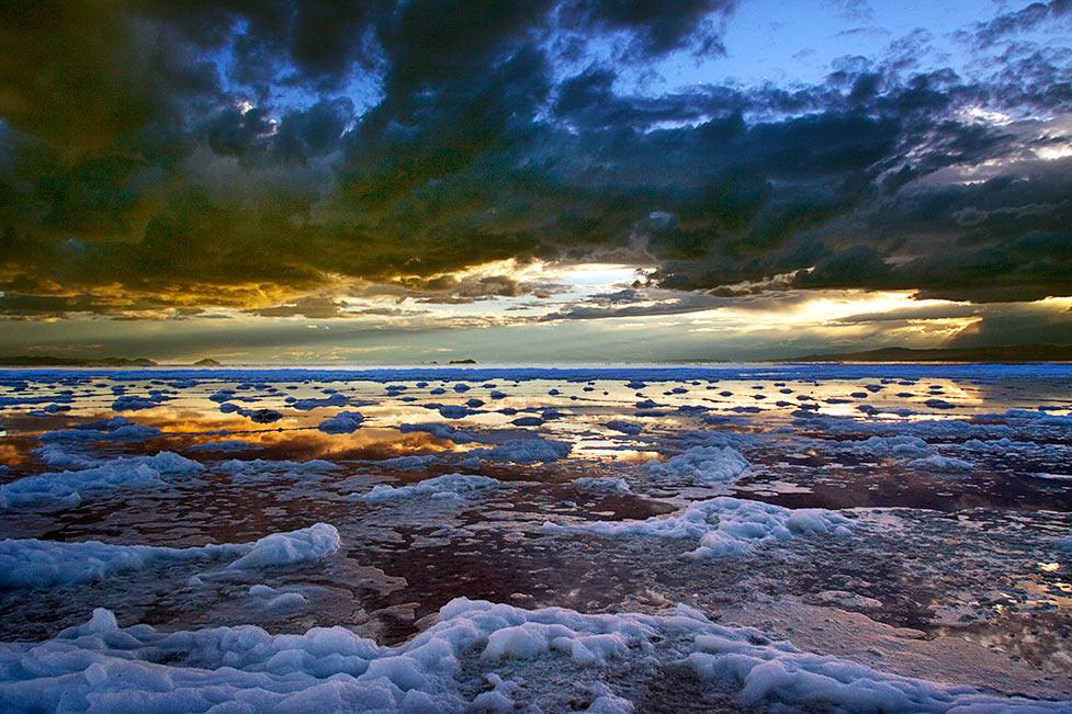 Salt Foam Sunset